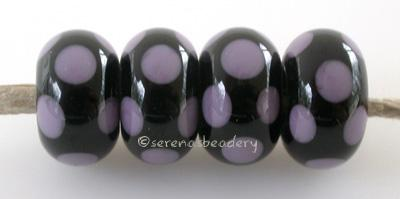 Black New Violet Dice Dots