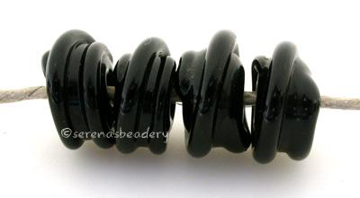 Black Raised Spirals black beads with a raised black spiral6x12 mmprice is per bead Glossy,Matte