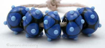 Black and Cobalt and Periwinkle Dots black beads with cobalt offset dots and periwinkle offset dots 6x12 mm price is per bead Glossy,12mm,Glossy,13mm,Glossy,14mm,Glossy,15mm,Glossy,16mm,Glossy,17mm,Matte,12mm,Matte,13mm,Matte,14mm,Matte,15mm,Matte,16mm,Matte,17mm