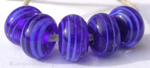 Cobalt Cobalt Spirals a transparent cobalt base cased with a cobalt ribbon spiral6x12 mmprice is per bead Default Title