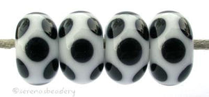 White Black Dice Dots
