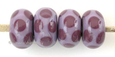 Violet Dice Dots A new violet base with dark violet dice dots. Also available in the reverse - a dark violet base and new violet dots. 5x11 mm price is per bead Glossy,No,Glossy,Yes,Matte,No,Matte,Yes