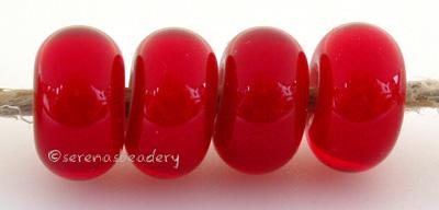 Cherry Red Heart cherry red with a white heart6x12 mmprice is per bead Glossy,Matte