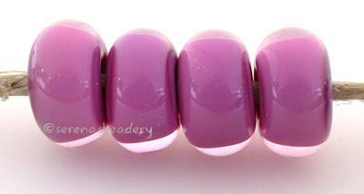 Sweet Dreamy Purple purple base cased with lavender 6x12 mmprice is per bead Glossy,Matte