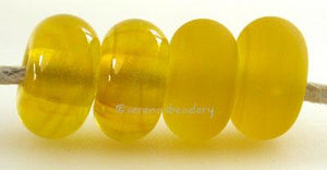 Lemon Color Notes: an oddlot color that is no longer in production - once its gone, there will be no more 5x10 mm Available shapes and sizes:Round Bead Shapes: Available to order 8 to 15 mm with hole sizes ranging from 1.5 to 5 mm. See drop down menu for the exact options. Shown here in 8, 9 and 10 mm with both a 2.5 mm and 1.5 mm hole. 4 and 5 mm holes will fit European Charm style jewelry.Also available in a wavy disk or bead cap:. Pressed bead shapes:Lentil - 12x13 mm in size with a 1.5mm hole.: Pillow 1