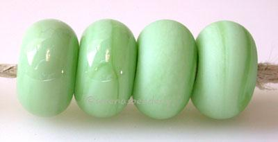 Opaque Mint Color Notes: an oddlot color that is no longer in production - once its gone, there will be no more 5x10 mm Available shapes and sizes:Round Bead Shapes: Available to order 8 to 15 mm with hole sizes ranging from 1.5 to 5 mm. See drop down menu for the exact options. Shown here in 8, 9 and 10 mm with both a 2.5 mm and 1.5 mm hole. 4 and 5 mm holes will fit European Charm style jewelry.Also available in a wavy disk or bead cap:. Pressed bead shapes:Lentil - 12x13 mm in size with a 1.5mm hole.: Pi