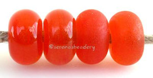 Tangerine Sparkle Color Notes: an oddlot color that is no longer in production - once its gone, there will be no more 5x10 mm Available shapes and sizes:Round Bead Shapes: Available to order 8 to 15 mm with hole sizes ranging from 1.5 to 5 mm. See drop down menu for the exact options. Shown here in 8, 9 and 10 mm with both a 2.5 mm and 1.5 mm hole. 4 and 5 mm holes will fit European Charm style jewelry.Also available in a wavy disk or bead cap:. Pressed bead shapes:Lentil - 12x13 mm in size with a 1.5mm hol