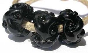 Black Woven 3 black woven beadsthe woven beads are a very intricate and unique design with lots of texture 7x13 mm Glossy,Matte