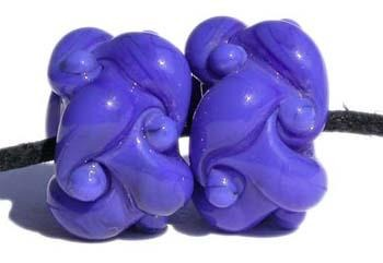 Light Cobalt Woven a pair of light cobalt woven beadsthe woven beads are a very intricate and unique design with lots of texture 7x13 mm Glossy,Matte