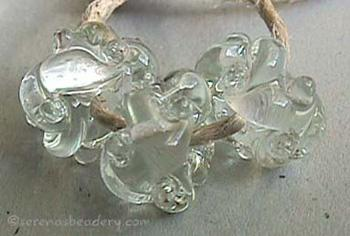 Crystal Clear Woven crystal clear woven beads the woven beads are a very intricate and unique design with lots of texture 7x13 mm Glossy,Matte