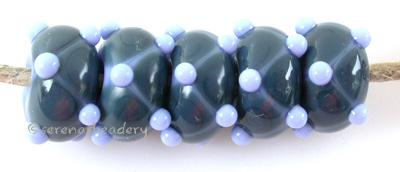Periwinkle Steel Offset Dots periwinkle beads with steel dots and periwinkle mini dots 6x12 mm price is per bead Glossy,Matte