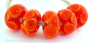 Tangerine Bubbles orange bubble encased beads 7x12 mm 2.5mm hole price is per bead All of my lampwork glass beads are individually handmade using Effetre, Vetrofond, or Lauscha, Reichenbach, Double Helix, and Bullseye glass rods. They are annealed in a digitally controlled kiln for everlasting strength and durability. Default Title