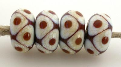 Brown Ivory Flat Dots beads with a brown base with ivory and brown offset dots. 6x12 mm price is per bead Glossy,12mm,Glossy,13mm,Glossy,14mm,Glossy,15mm,Glossy,16mm,Glossy,17mm,Matte,12mm,Matte,13mm,Matte,14mm,Matte,15mm,Matte,16mm,Matte,17mm