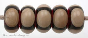 Amber Tan Circle Dots amber and tan circle dots 5x11 mm price is per bead Glossy,Matte