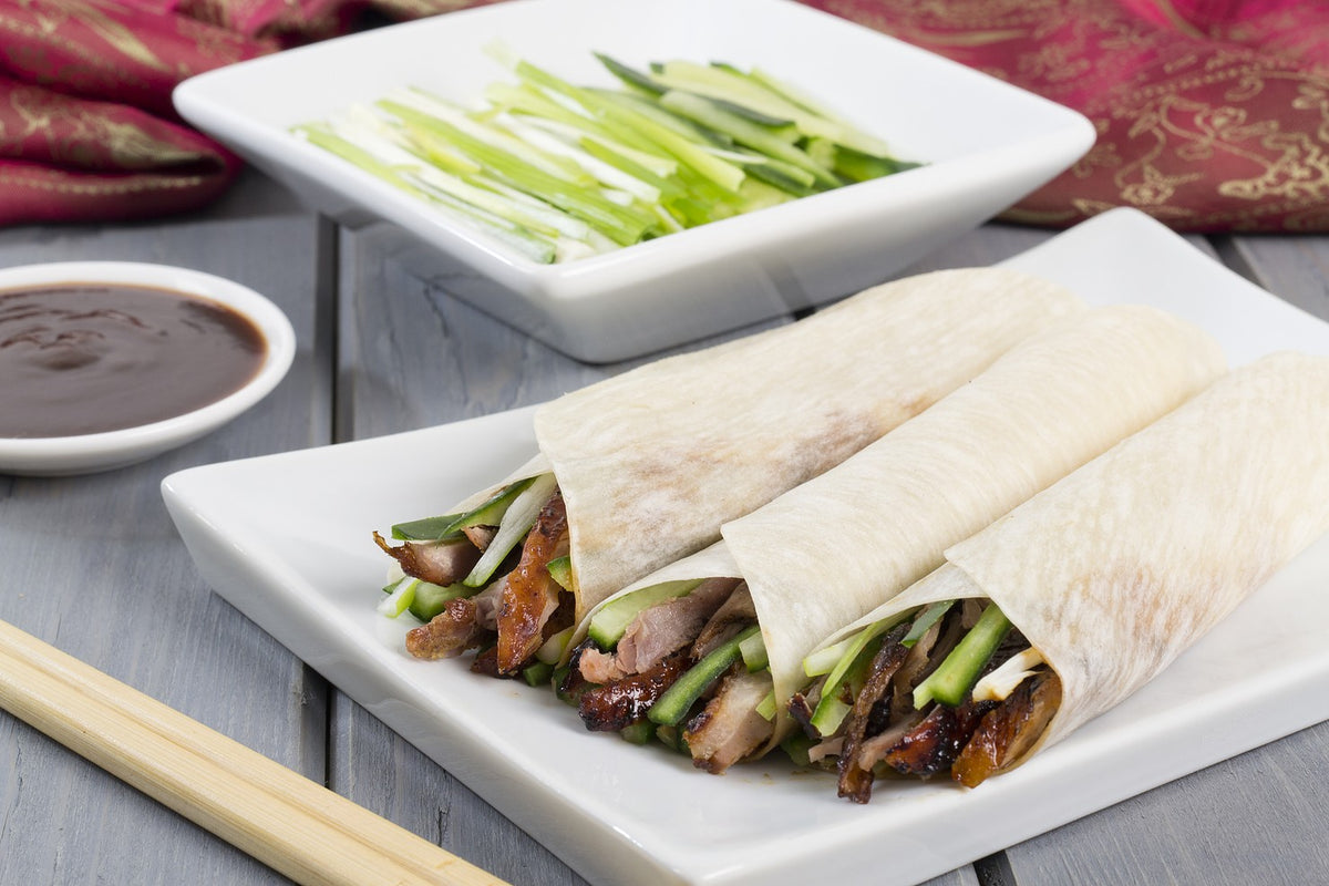 Duck Wraps With Plum Sauce