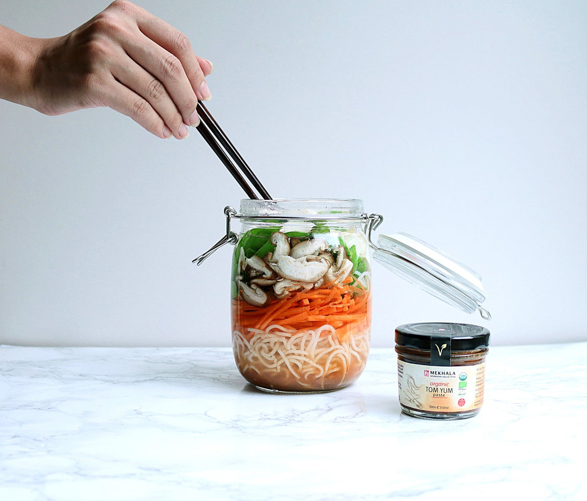 Tom Yum Vegetarian Noodles
