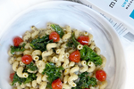 Kale Cavatappi in Cream Sauce