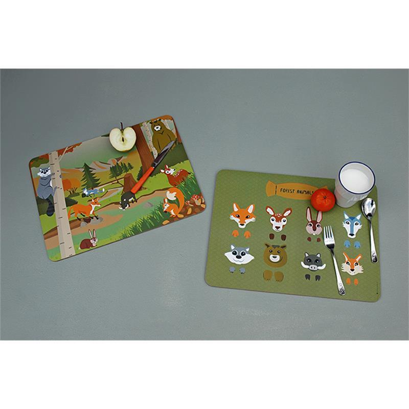 The Zoo - Placemat Forest Animals Mix Set/2