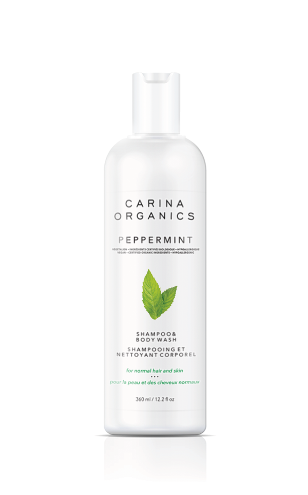 Carina Organics - Shampoo & Body Wash  - Peppermint 360ml