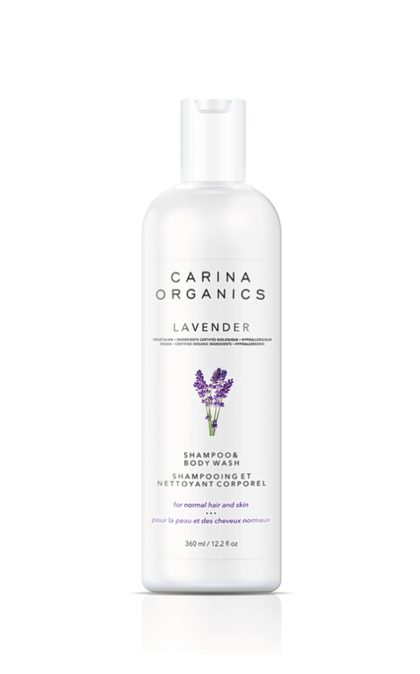 Carina Organics - Shampoo & Body Wash - Lavender 360ml