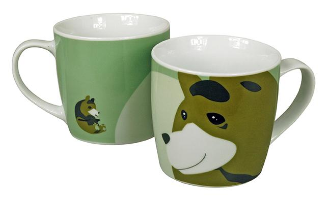 The Zoo Ceramic Animal Mug Brown Bear