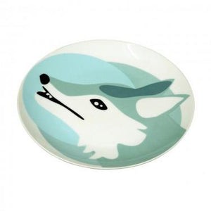 The Zoo Ceramic Animal Plate Wolf