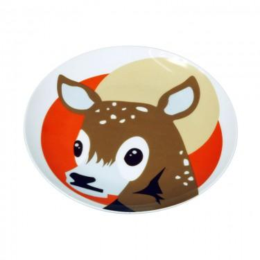 The Zoo Ceramic Animal Plate Baby Deer