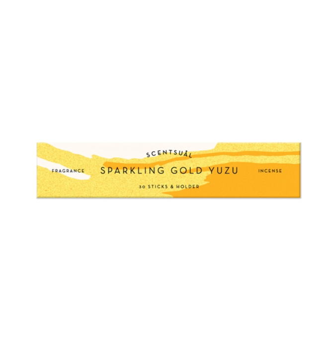 SCENTSUAL - Sparkling Gold Yuzu (30 sticks & Holder)