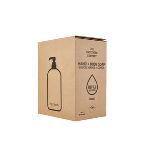 Unscented Hand and Body Soap Refill Box, serve by 10g