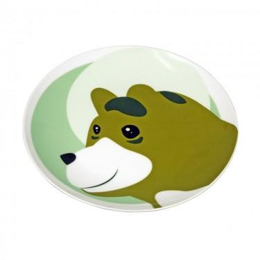 The Zoo - Ceramic Animal Plate Brown Bear