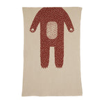 Donna Wilson - Bear Mini Blanket - Oatmeal