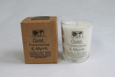 Gold, Frankincense & Myrrh Votive Candle