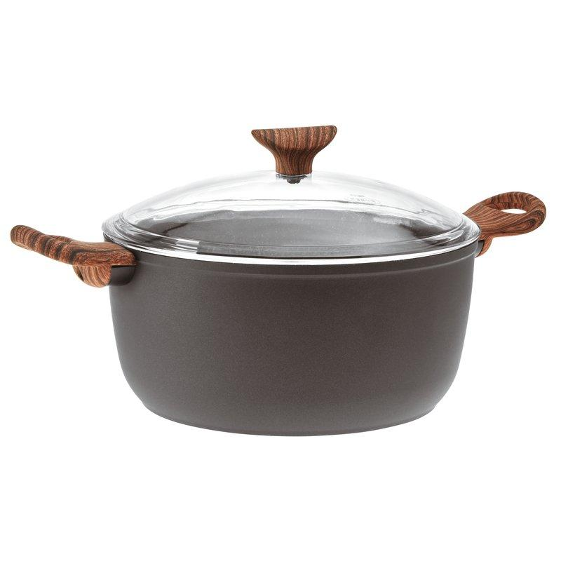 Sambonet - Saucepot with Lid, Cm 24, Rock & Rose Black