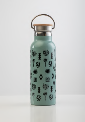 SORA - Eucalyptus Stainless Steel Water Bottle 500ml