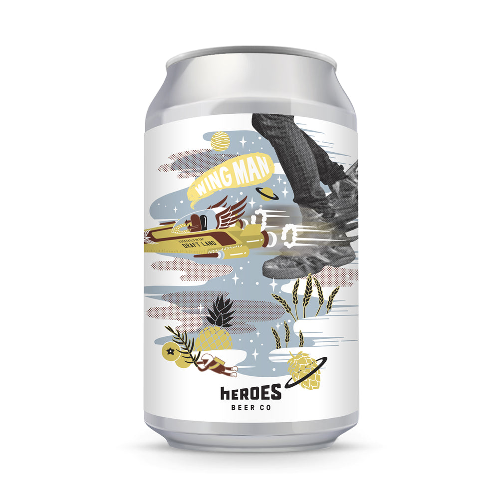 Heroes Beer - WING MAN Juniper Pineapple Berliner Weisse