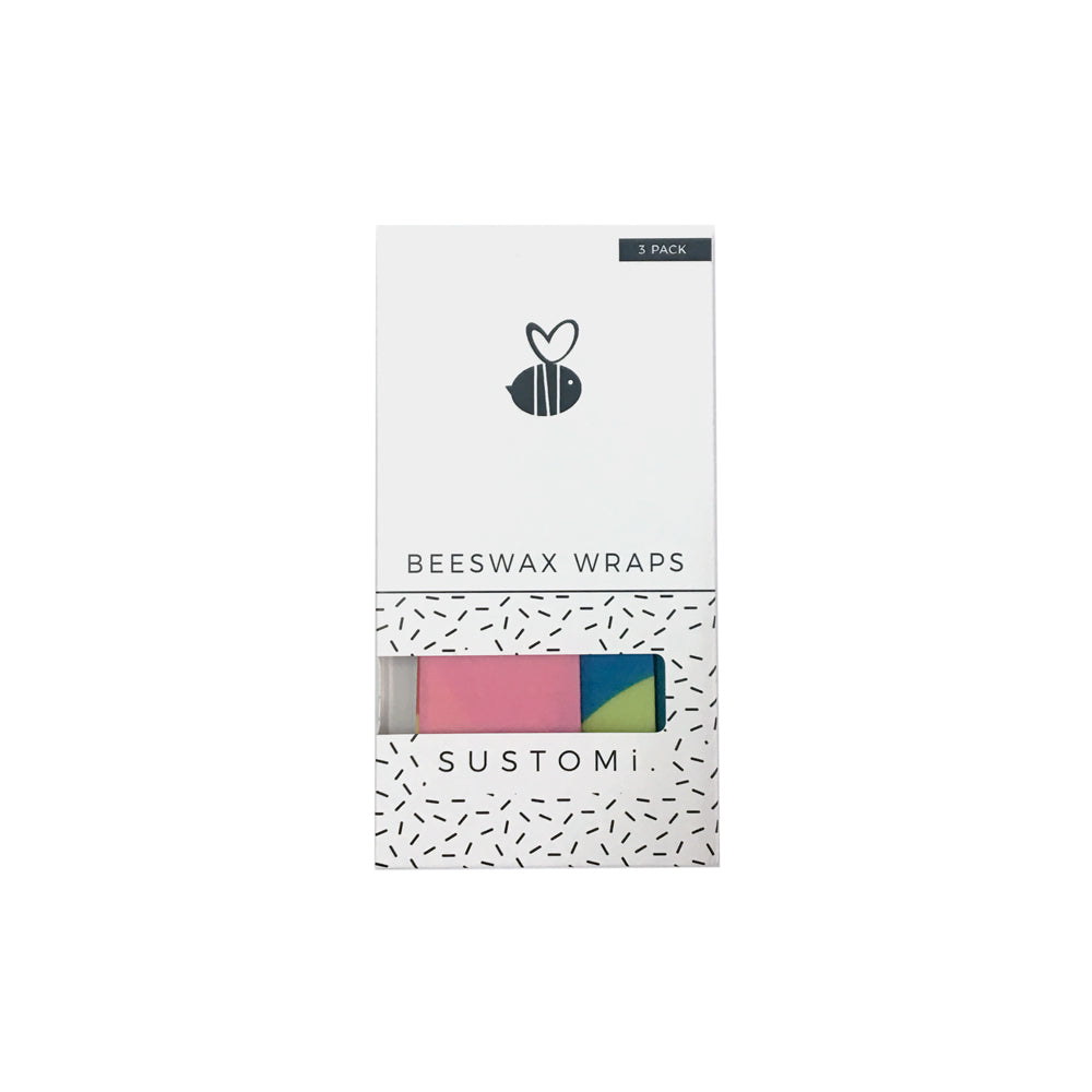 Beeswax Wraps Splash 3 Pack: 1S 1M 1L