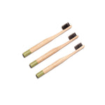 ECO BAMBOO Tooth Brushes - Child Green (3pcs)