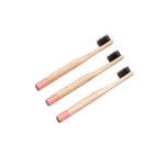 ECO BAMBOO Tooth Brushes - Child Pink (3pcs)