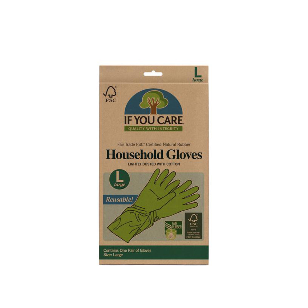 IF YOU CARE - FSC Certified Natural Household Gloves - Large