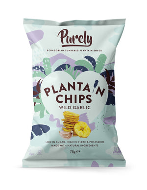 Purely Plantain Chips Wild Garlic (75g)