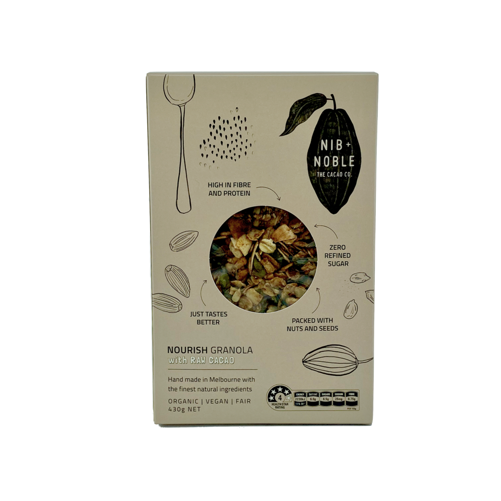 Nib and Noble - Organic Nourish Granola with Raw Cacao