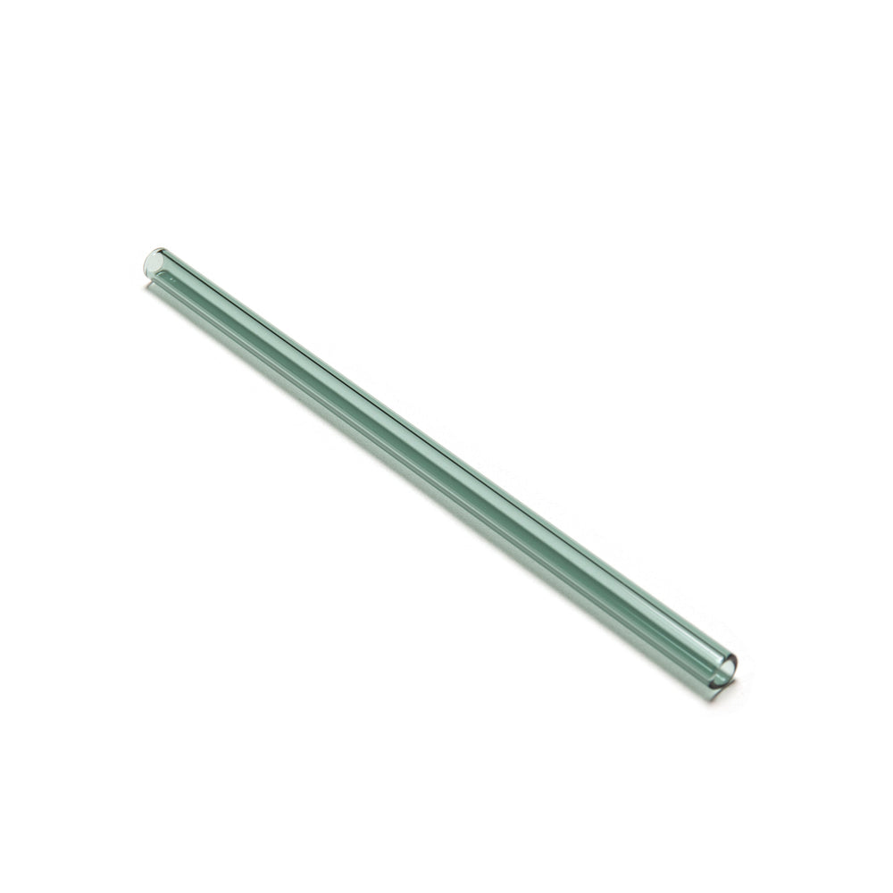 Green glass straw 8mm*180mm