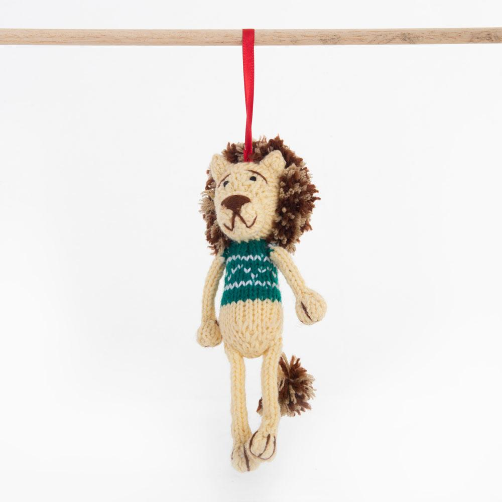 Gogo Olive - Fairtrade Christmas Decoration - Green Lion
