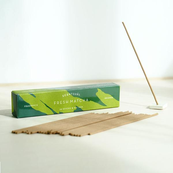 SCENTSUAL - Fresh Matcha (30 sticks & Holder)