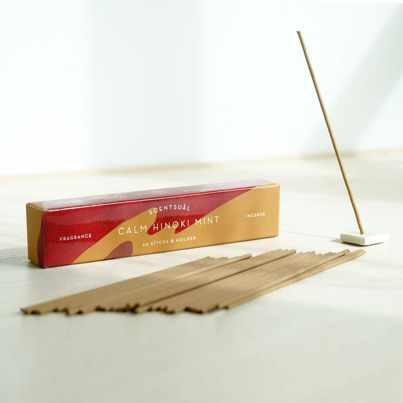 Calm Hinoki Mint (30 sticks & Holder)
