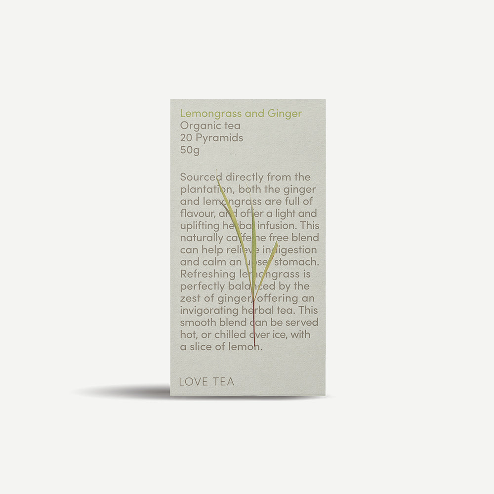 Love Tea - Lemongrass & Ginger Tea - 20 Pyramid bags