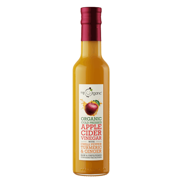 Mr Organic - Organic Vegan Apple Cider Vinegar -Turmeric, Chilli & Ginger 250ml