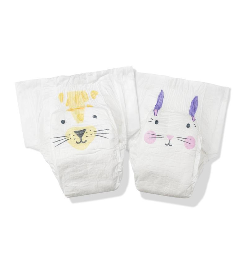 Kit & Kin - Biodegradable Nappies Size 2 (Rabbit & Leopard)