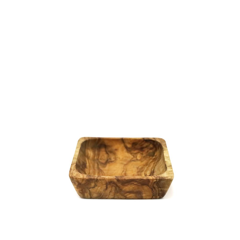 Naturally Med - Olive Wood Square Dipping Bowl 3""