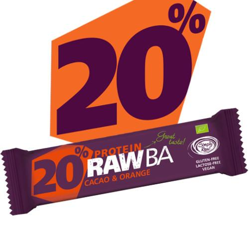 Raw Bar Protein Cacao & Orange - Vegan Gluten Free